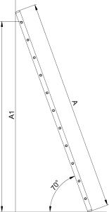 "Односекционная алюминиевая лестница HOBBY ""VHR H"""